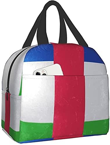 KEROTA Lunchtasche für Damen, Flagge der Zentralafrikanischen Republik, Kühltasche, Tragetasche, Warmhalten, große Lunchbox für Kinder, Arbeit, Wandern, Picknick