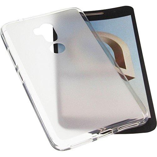 foto-kontor Tasche für Alcatel A7 XL Gummi TPU Schutz Handytasche transparent weiß