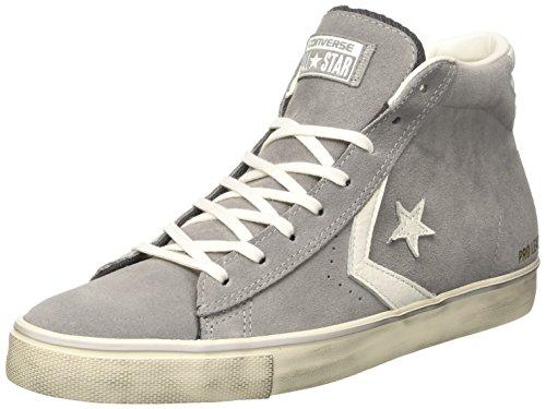 Converse 158934C Lacets en Cuir Pro de Chaussures en Cuir Blanc Gris mi Fille 40