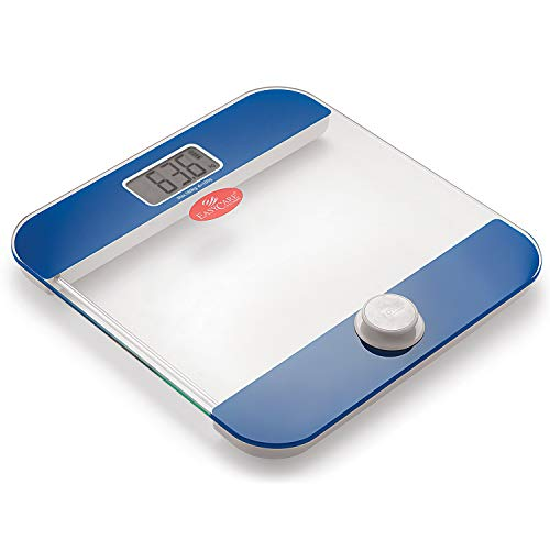 EasyCare EC-3321 Battery Free and One Press To Power Up Weighing Scale (Blue)