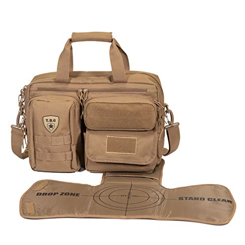 Tactical Baby Gear Deuce 2.0 Tactical Diaper Bag with Changing Mat (Coyote Brown)