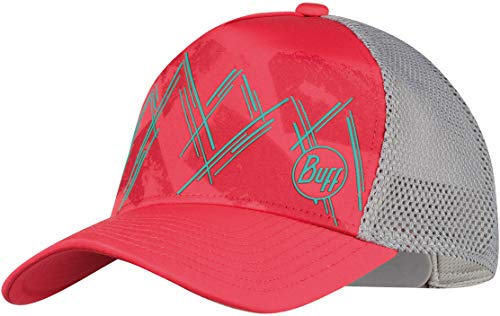 Buff W Trucker Cap Grau-Rot, Damen Kopfbedeckung, Größe One Size - Farbe Kaila Coral