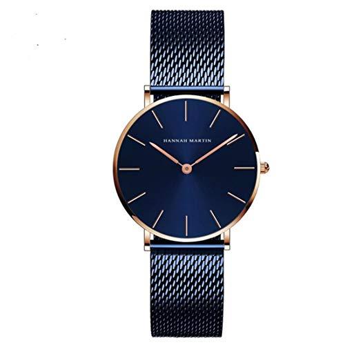 Hannah Martin Women Reloj De Pulsera Luxury-Minimalistic Alloy Quartz Analogous 3690-B-W