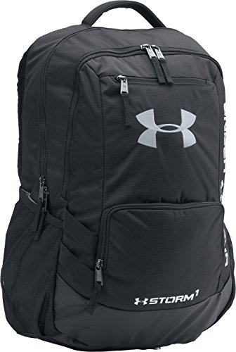 Under Armour Storm Hustle II Backpack, Black (001)/Silver, One Size Fits All