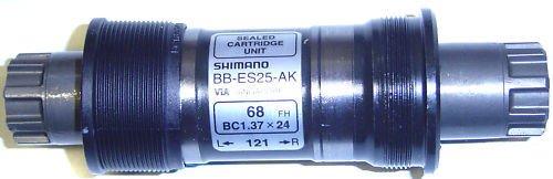 BB-ES25 Shimano Deore Octalink - Cojinete interior (73/118 mm, BSA 1,37 x 24)