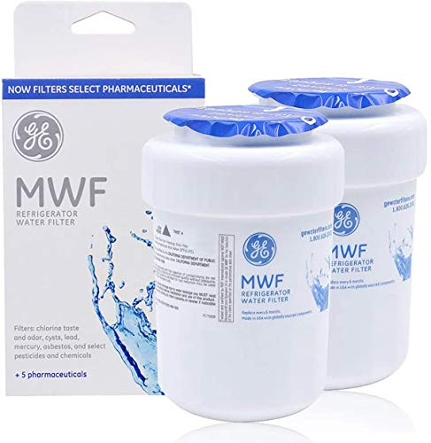 MWF MWFP Water Filter for GE Refrigerator Replacement OEM MWF Water Filter Compatible with GE SmartWater MWF, MWFP, MWFINT, MWFA,GWF, GWFA (2 Packs)