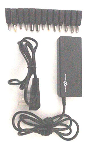 Power Vision 95W Universal Laptop Charger 15V 16V 18.5V 19V 19.5V 20V 22V 24V AC with 13 Plugs for Sony, Fujitsu, Toshiba, NEC IBM HP Compaq Compaq Mini Dell ASUS Acer YOGA Lenovo Idea Pad Yoga