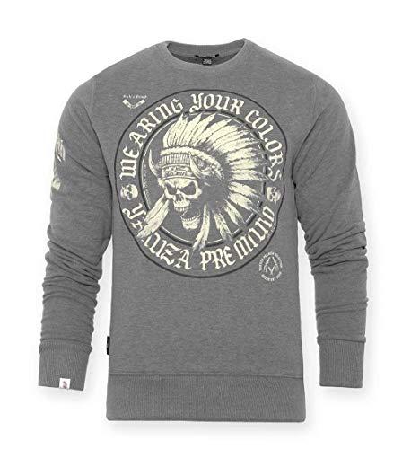 Yakuza Premium Herren Sweatshirt Wearing Your Colors grau, XL