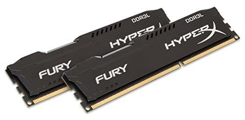 HyperX HX318LC11FBK2/16 Fury Schwarz Arbeitsspeicher, DDR3L, 16GB (Kit 2x 8GB), 1866MHz, CL11, DIMM 1.35V