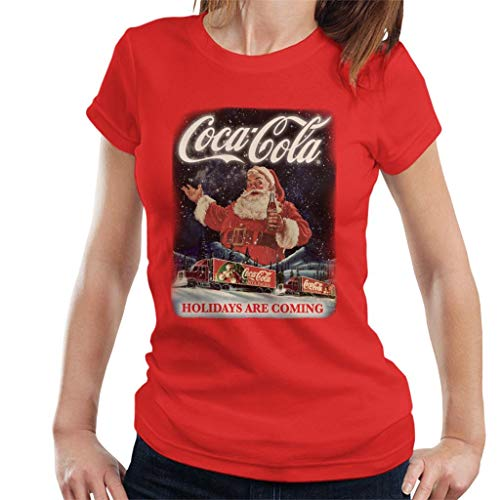 Coca Cola Santa Holidays Are Coming Christmas Women's T-Shirt