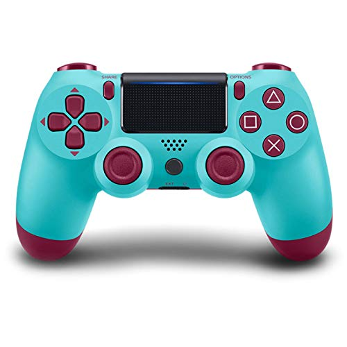 GLIANG Wireless Controller Für PS4 Controller, Bluetooth Controller Gamepad,BerryBlue