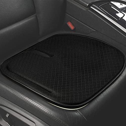 ZATOOTO Auto Sitzkissen Memory Foam – Sitzbezüge Auto Vordersitze, Sitzpolster für Auto, Büro, Hause, Weich, rutschfest, Schwarz