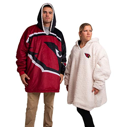 FOCO NFL Unisex-Adult Big Logo Hooded Sweater