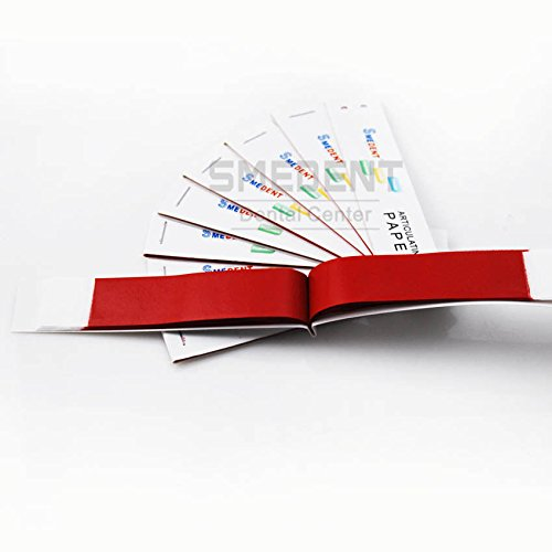 Dental Red Thin Articulating Paper Strips 20 sheets/book 10 books/Box Hot Sale