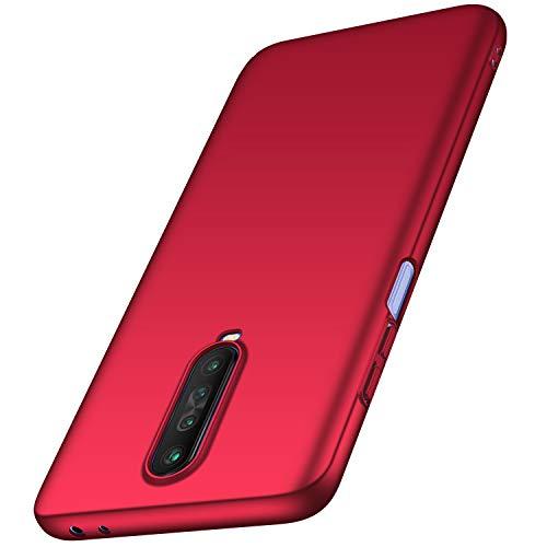 anccer Kompatibel mit Xiaomi Redmi K30 5G Hülle [Serie Matte] Elastische Schockabsorption & Ultra Thin Design für Redmi K30 5G (Glattes Rot)
