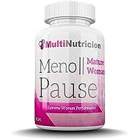 MenoPause   Formula de ultima generacion que combate los sintomas de la menopausia   Flavonoides citricos   Isoflavonas de Soja   Salvia   Eleuterococo   Lupulo   90 Capsulas