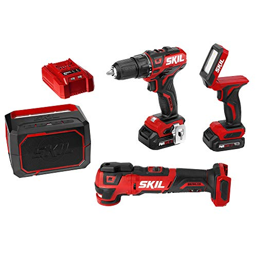 SKIL PWRCore 12V 4-Tool Brushless Combo Kit: 1/2