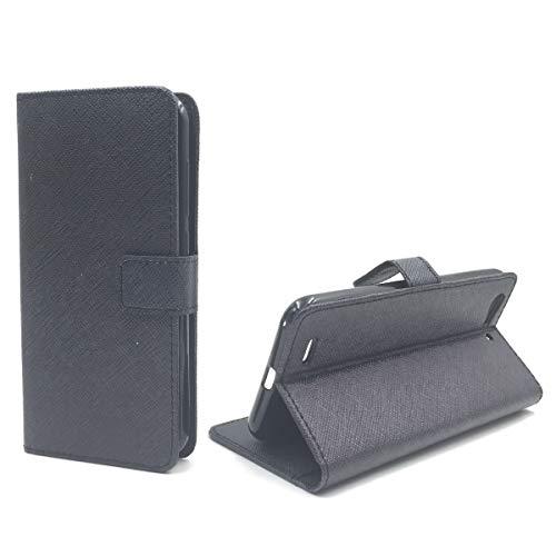 König Design Handyhülle Kompatibel mit ZTE Blade V6 Handytasche Schutzhülle Tasche Flip Case mit Kreditkartenfächern - Onyx Schwarz