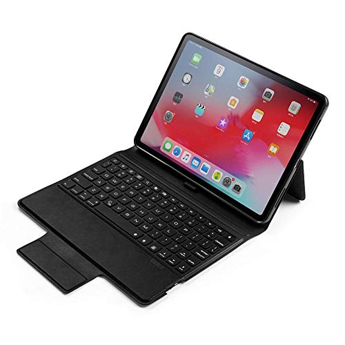 ANBF Multipurpose Bluetooth Keyboard Case Leather Backlit Leather Flip Keypad For Ipad Pro 11 Inch 2018 (Color : Black, Size : For iPad Pro 11 inch 2018)