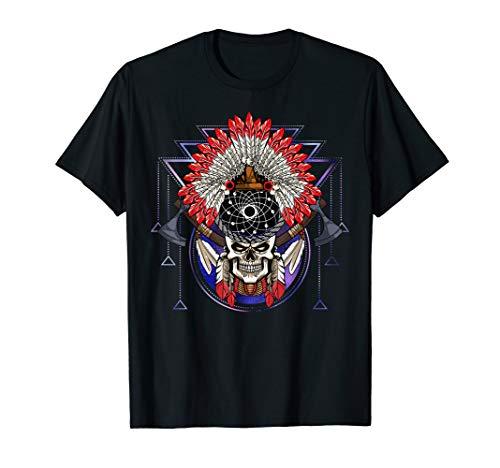 Indianischer Traumfänger Indianer-Kopfschmuck Tomahawk T-Shirt