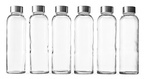 Epica 18-Oz. Glass Beverage Bottles, Set of 6 (Beverage Glasses)