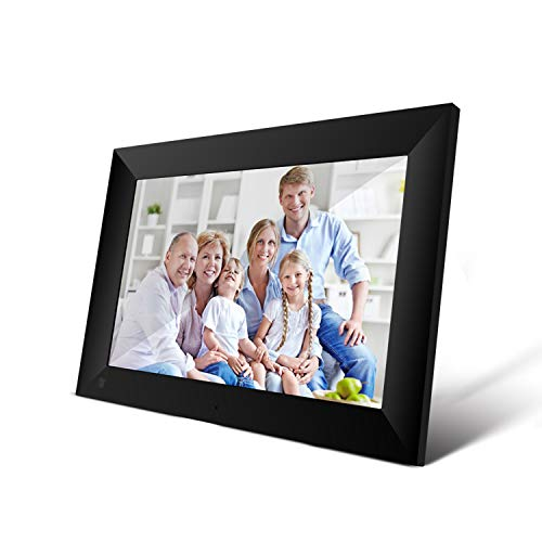 Docooler P100 WiFi Digital Picture Frame 10.1 Pulgadas 16GB Smart Electronics Photo Frame Control de Aplicaciones Enviar Fotos Push Video Pantalla táctil 800x1280 IPS LCD Panel