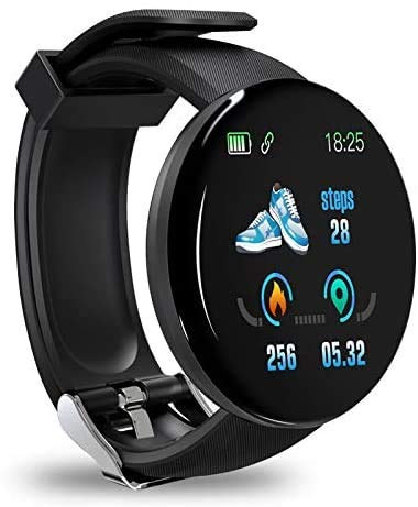 Smartwatch, Reloj Inteligente Impermeable IP68,  Pulsera de Actividad Inteligente con Monitor de Sueño Contador de Caloría Pulsómetros Podómetro,  para Hombres Mujeres Niños Compatible iPhone Android