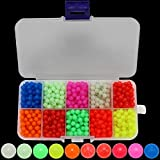 BB Hapeayou Fishing Beads Saltwater Freshwater Assortment - for Fishing Rigs/Fising Line- Glow Mix Color Plastic 5mm(1000pcs/Box)