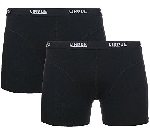 2er Pack CINQUE Shorts Cotton Stretch Unterwäsche Herren Boxershorts Unterhose Schwarz 59900 699P, Größenauswahl:M