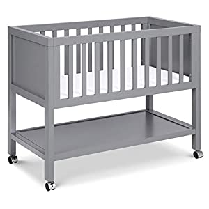DaVinci Archie Portable Bassinet in Grey, Greenguard Gold Certified