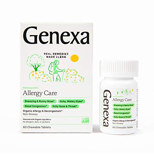 Genexa Allergy Care – 60 Tablets | Certified Organic & Non-GMO, Physician Formulated, Homeopathic | Multi-Symptom Allergy Relief Medicine