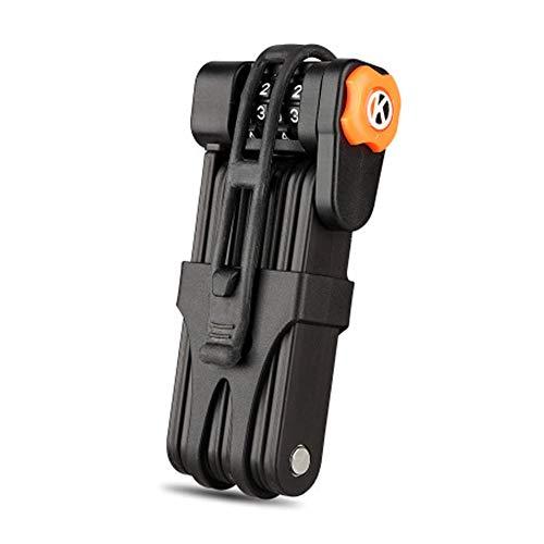 Keyzone Candado plegable para bicicleta con 8 articulaciones, de acero, 85 cm