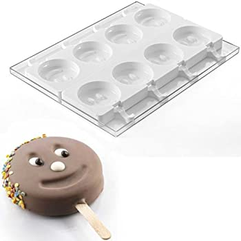 Silikomart Silicone Mold for Ice Cream Pops: Smiley Face