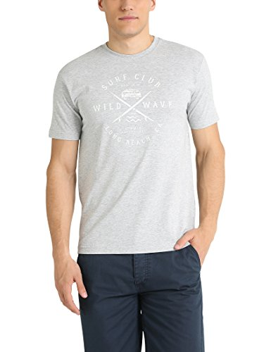Ultrasport Cruz Herren T-Shirt Birk, Grau Melange, L