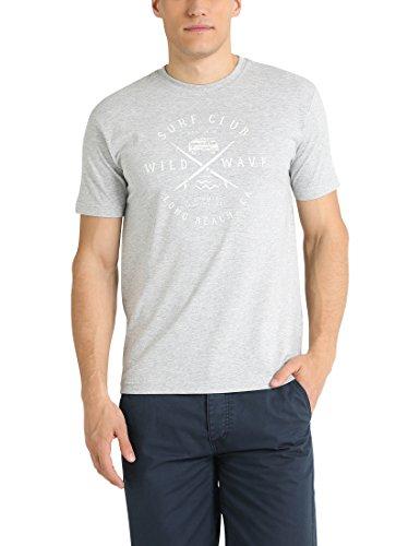 Ultrasport Cruz Birk Camiseta de Manga Corta, Hombre, Gris Mezcla, L