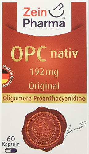 ZeinPharma OPC Traubenkernextrakt 192 mg 60 Kapseln (Monatspackung) Glutenfrei, vegan, koscher & halal Hergestellt in Deutschland, 34 g