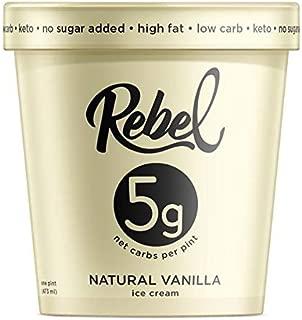 Rebel Ice Cream - Low Carb, Keto - Vanilla (8 Count)