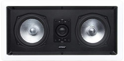 "Earthquake Sound Imãge-C25X (Single) Dual-5.25"" 2-Way In-Wall Center Channel Speaker with Paintable Grille"