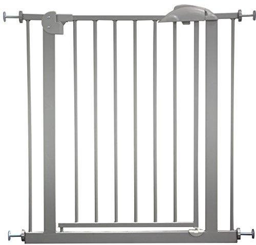 IB-Style - Cancello di sicurezza/Cancelletto securella MIKA | 75-175 cm | Auto-Close| 90° fissazione | metallo argento | ampiezza 75-85 cm