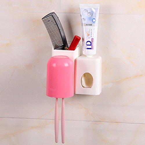 Ventouse Support mural pour brosse à dents Dentifrice Lot de trois à fixer au mur Ventouse Brosse à dents Brosse à dents Rack Mug