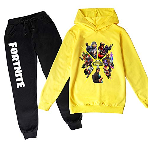 Epic Games Youth Fortnite Hoodies and Fashion Sweatpants Tracksuit for Boys Girls (9-10Year, B.Fortnite)