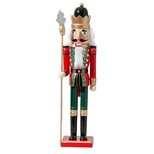AIHOME - Schiaccianoci in legno, altezza 50 cm, con soldato multicolore, decorazione natalizia, legno
