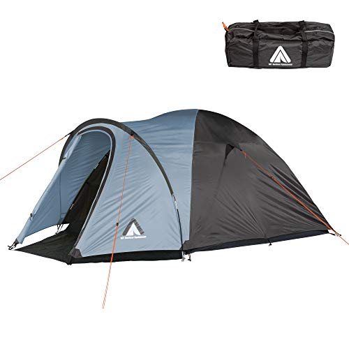 10T tent scone voor 3 of 4 personen en diverse Kleuren naar keuze, koepeltent met voortbouw, 5000 mm campingtent, waterdichte iglo-tent, compacte trekkingtent.