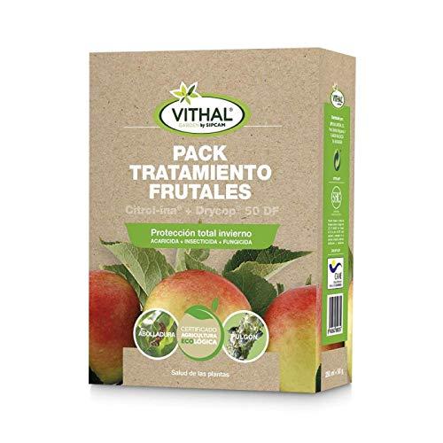 VITHAL GARDEN Tratamiento árboles frutales Fungicida + Aceite Insecticida (Parafina + Oxicloruro de Cobre) 250 ml + 60 gr