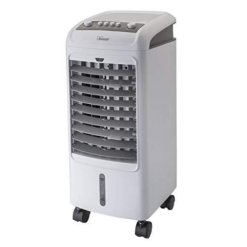 Bimar VR27 Raffrescatore, Ventilatore e Purificatore 3 in 1 con 3 Velocità, Oscillazione Automatica Dx/Sx e Funzione Rinfrescante, Serbatoio 4 L, 8 ore di Aria Fresca, Filtri Rimovibili e Lavabili
