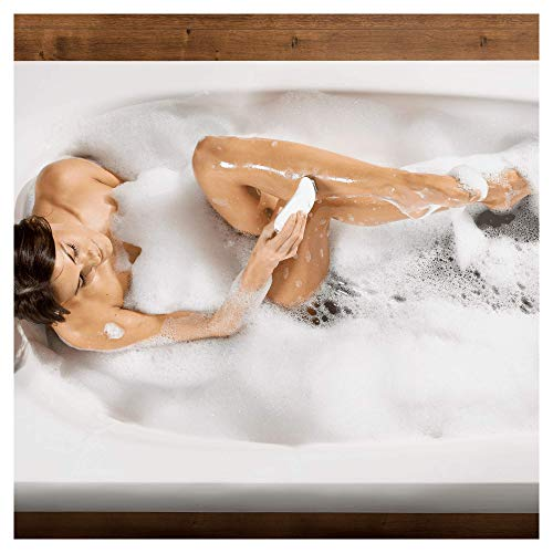 Braun Silk-épil 7 7-561 - Pack depiladora eléctrica para mujer, inalámbrica con 8 Extras, cabezal afeitadora y recortadora zona bikini, blanco/plata