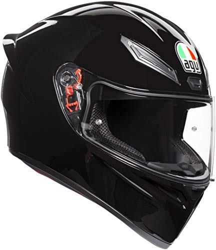 AGV 0281A4I0_002_ML K1 Solid Casco Moto Integral, Negro, ML