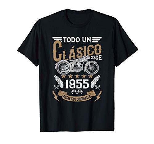 Hombre Motero Todo Un Clásico Nacido En 1955 Cumpleaños Camiseta