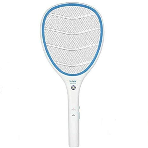 Amshi Electric Zapper Racket, Rechargeable Handheld Large Zapper with LED Lighting for Home, Patio, Indoor and Outdoor with LED Light