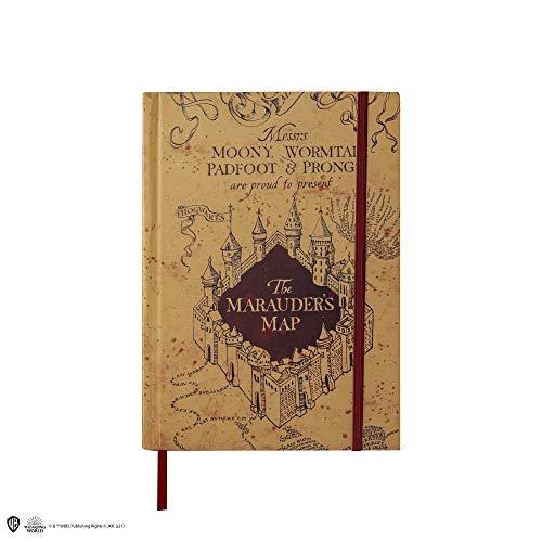 Cinereplicas Harry Potter - Cuaderno con mapa del Merodeador plegable - Licencia Oficial